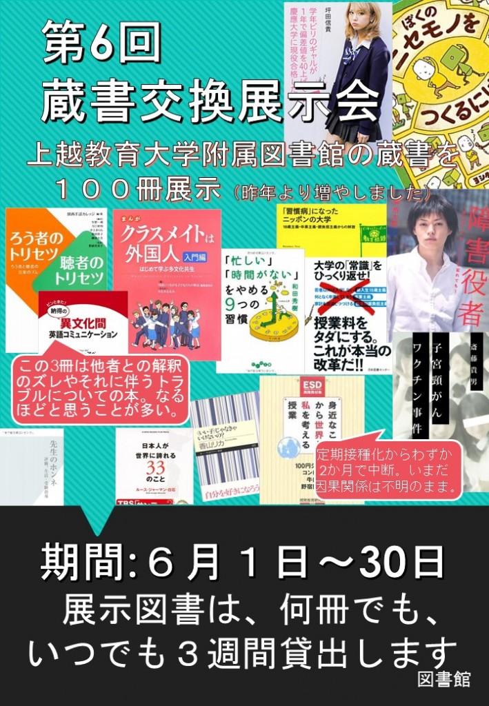 第6回蔵書交換展示会ポスター